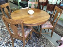 Oak Dining Table & 4 Chairs in Camp Lejeune, North Carolina