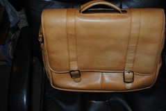 David King Brown Leather Laptop Bag/Briefcase in Ramstein, Germany