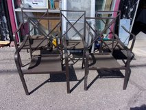 Set of Five Metal Outside Chairs in Fort Riley, Kansas