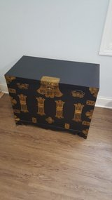 Vintage Asian storage chest/end table in Elgin, Illinois