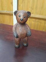 bear made from solid wood in Lakenheath, UK
