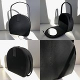 ~ Vintage 1950's Faille black Hat Box purse by Garay in St. Charles, Illinois