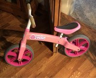 Yvolution Y Veloras Jr Girls pink walking balancing bike in Naperville, Illinois