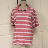 Nautica XL Pink White Stripe Polo Men's Shirt Knit  Casual Office Top in Kingwood, Texas