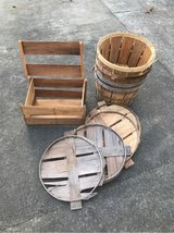 large wooden baskets in Cherry Point, North Carolina