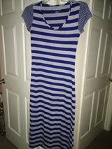 Size Medium dark blue and gray summer dress. in Beaufort, South Carolina