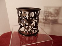 Rubbed Bronze Candle Holder in Oswego, Illinois
