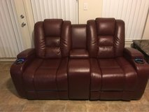 LEATHER THEATER CHAIR RECLINER (ELECTRIC MOTION SENSORED) in Camp Pendleton, California