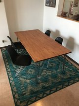 Hairpin Leg Dining Table w/Eames style chairs (4) in Okinawa, Japan