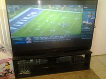 """Mitsubishi 75"""" projection screen tv WITH stand 450$OBO in Barstow, California"""