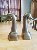 Brass duck bookends in Naperville, Illinois