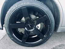"22"" New Black Status Alloy rims and tires in Fort Carson, Colorado"
