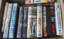 Selection of VHS Tapes in Lakenheath, UK