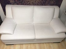 Nice White Leather-Look Couch in Stuttgart, GE
