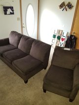 2 piece FLEX steel SECTIONAL  couch in Shorewood, Illinois