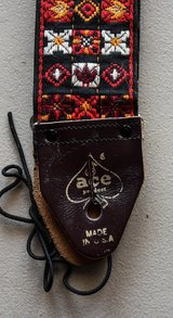 Rare ORIGINAL Owner's Ace Guitar Strap From 1967 in Yorkville, Illinois