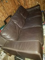 Leather couch and chair in Belleville, Illinois
