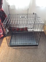 dog cage. Two doors. 75cm long 56cm wide 63.5cm tall in Lakenheath, UK