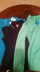 new with tags sports shirts and Nivo pullover, size M in Byron, Georgia