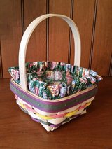 Longaberger Small Natural Easter Basket, Liner and Protector in Orland Park, Illinois