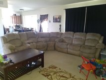 Microfiber reclining sectional / couch in Fort Bliss, Texas