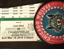 Chicago Wolves Sunday March 18th 3PM 4 great lower level seats in Aurora, Illinois