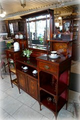 precious mahagony dressoir with inlay work in Spangdahlem, Germany