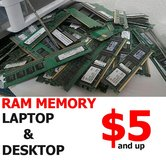 COMPUTER PC RAM MEMORY - DESKTOP & LAPTOP - DDR2 & DDR3 - 1GB 2GB 4GB 8GB in Miramar, California