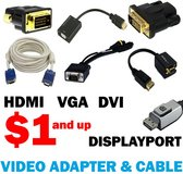 Video Adaptor and Wire - HDMI DVI VGA Displayport in Miramar, California