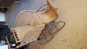 Vintage baby stroller in 29 Palms, California