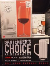 Wine, shot and beer glasses (brand new in boxes with sticker price) in Algonquin, Illinois