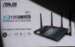 Asus AC3100 RT AC88U wireless router (best on market and never used) in Algonquin, Illinois