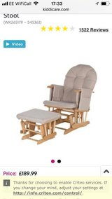 Recline glider Chair and Stool in Lakenheath, UK