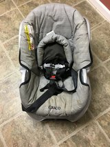 Grey infant car seat and base (Graco) in Shorewood, Illinois
