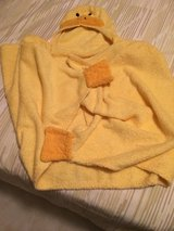 Yellow duck bath robe in Aurora, Illinois