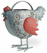 """Adorable Metal Berty Red Hen watering can Size: 12""""l x 5 1/2""""w x 11""""h Brand New in Camp Lejeune, North Carolina"""