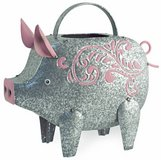 """Adorable Metal Oinky Pig watering can Size: 12""""l x 7""""w x 7 1/2""""h Brand New in Camp Lejeune, North Carolina"""