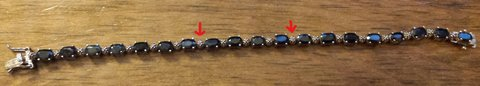 REDUCED Sapphire Tennis Bracelet in 29 Palms, California