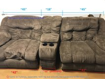 Brown fabric recliners/ couch/sofa - comfy! in Okinawa, Japan