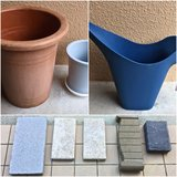 *REDUCED* Garden Lot ( NEW Garden Stones, Flower Pots and Watering Can) in Okinawa, Japan