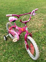 Girls Bike with training wheels in Kingwood, Texas