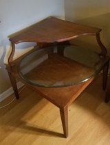 Solid wood corner table in Oswego, Illinois