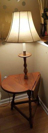 Table lamp solid wood with shade in Oswego, Illinois