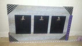 New!  Rustic Wall Hanging with 3 Chalkboard Clipboards in Naperville, Illinois