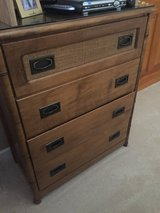 Simmons 4 Drawer Dresser with Rattan accent in Lockport, Illinois