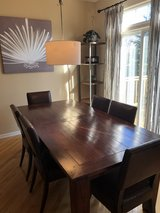 Room & Board Dining Room Table And Leather Chairs in Elgin, Illinois