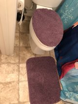 purple bathroom mats & toilet cover in Nellis AFB, Nevada