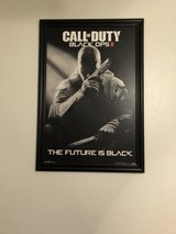 Call of Duty framed picture in Nellis AFB, Nevada