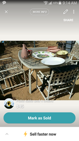 Patio Table with 4 chairs in Yucca Valley, California