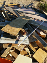 Tons of free wood in Yucca Valley, California